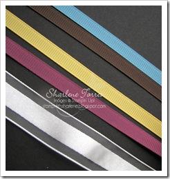 narrow grosgrain and organza ribbon