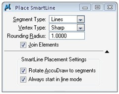 place smartline tool settings