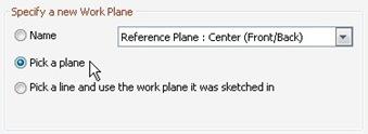 specifying work plane