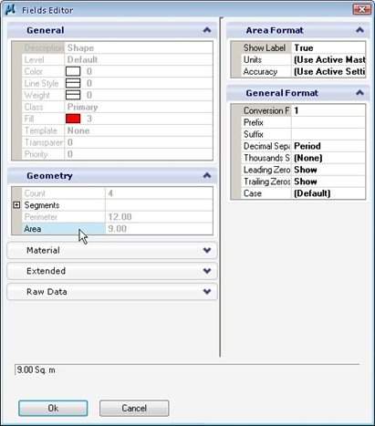 MicroStation Fields Editor