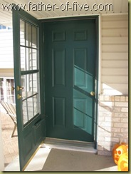 Original entryway door