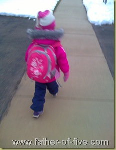 #5 of 5 - walking to the school bus stop