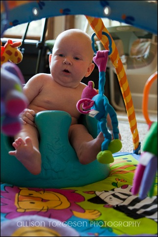 Sara in bumbo seat-7 blog