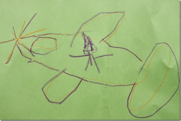 Alex's drawing of Daddy on an airplane-1 blog