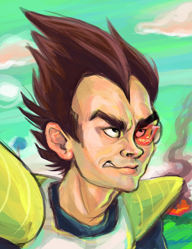 mister mean saiyan by misskari Megapost   Imagenes de Dragon Ball   Parte 3   Vegeta