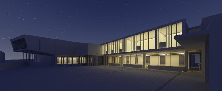 Illuminazione notturna di un esterno con vrayforc4d 1 2 for Pluripremiati piani di casa sul lago