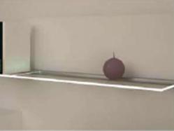 Light on edges of glass shelves
