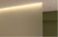 Dimmable sidelights give the wall structure