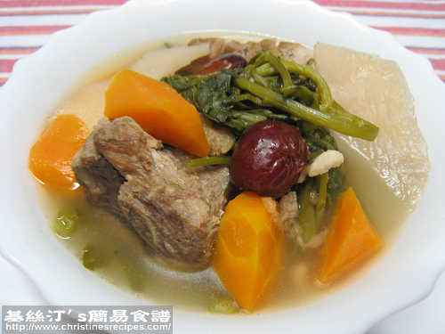 西洋菜豬骨湯 Watercress Pork Bone Soup
