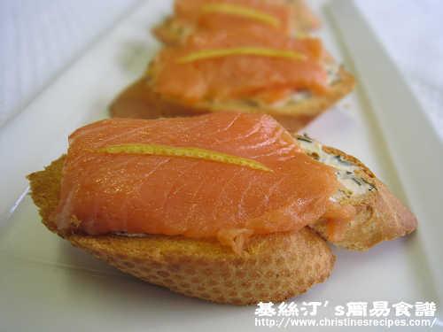 煙三文魚忌廉芝士多士 Smoked Salmon and Cream Cheese Toasts