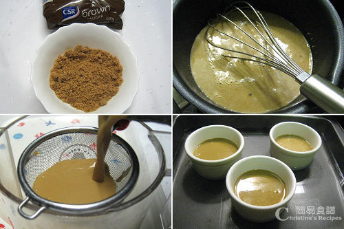 意式咖啡布甸製作圖 Italian Coffee Custard Procedures