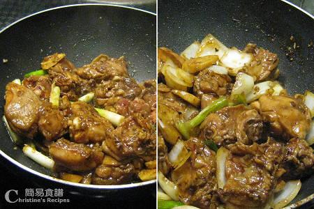 薑蔥雞煲製作圖 Stewed Chicken with Ginger and Shallot Hot Pot Procedures