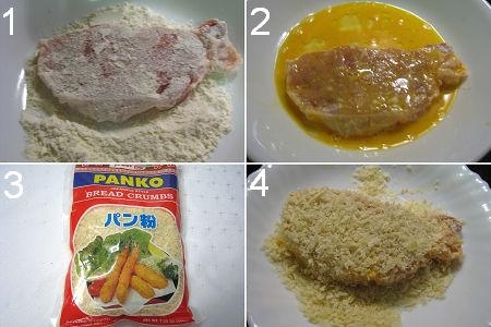 豬扒滑蛋飯製作圖 Katsudon Procedures
