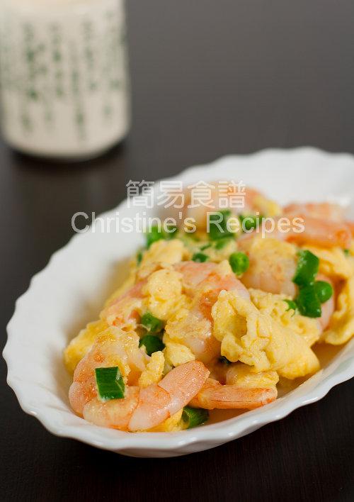 Fried Prawns with Eggs01