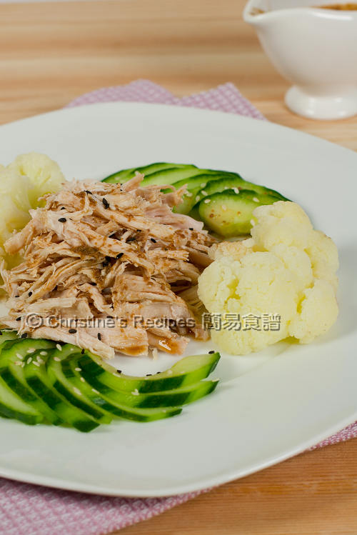 Warm Handpull Chicken Salad with Sesame Dressing01