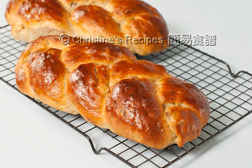 Braided Raisin Walnut Bread02