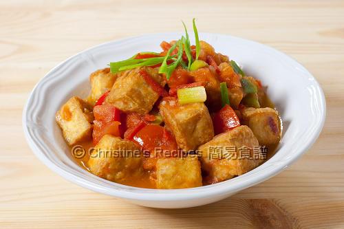越式茄汁炸豆腐 Crisp Tofu in Tomato Sauce01