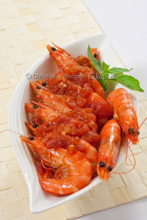 Tomato Chilli Prawns01
