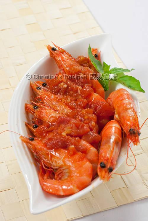 Tomato Chilli Prawns01