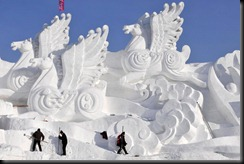 esculturas na neve