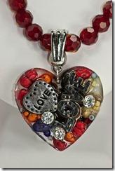 Lg LOVE heart pendant