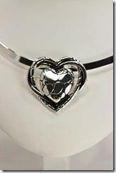 Lg Double Heart Pendant