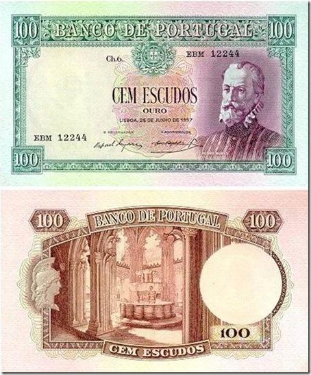100 escudos pedro nunes 1947_1957