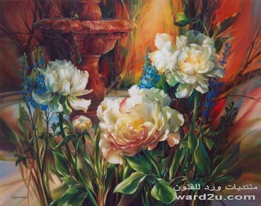 زهور و ورود فى لوحات عالميه