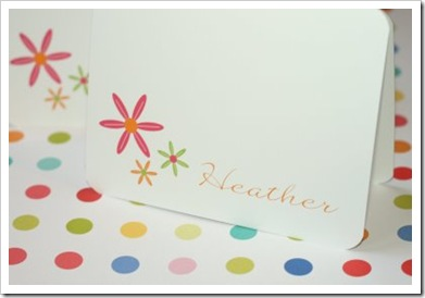 bright flower notecard