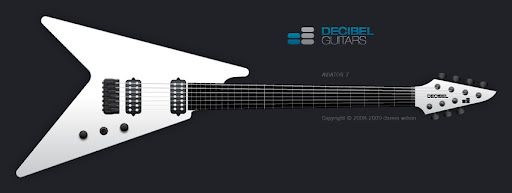The Aviator is a re-thinking of the V-type guitar, with the aim of addressing the balance and ergonomic issues that make V-type guitars less appealing to some players. The body is offset to improve balance, and carved to improve player comfort.