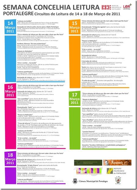 Semana da Leitura - Portalegre