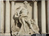羅馬許願池海神像特寫
