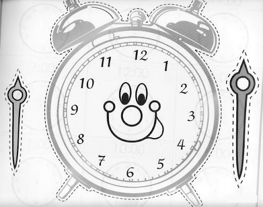 El arte de ense ar reloj dame la hora - Manualidades relojes infantiles ...