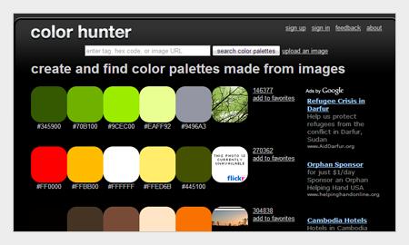 tips pemilihan warna untuk desain grafis menggunakan colorhunter