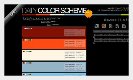 tips pemilihan warna untuk desain grafis menggunakan dailycolorscheme