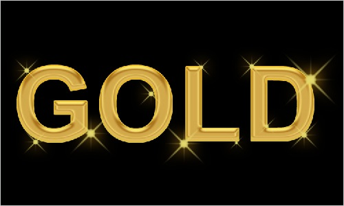 Gold Text Effects Photoshop