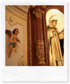 Detalle de la capilla de la casa del patrón.