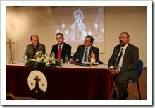 De izquierda a derecha: Francisco García-Minguillán, vocal de la Hernadad; Amalio Manuel Cachero, presidente de la misma; Vicente de Gregorio, alcalde de Almodóvar; y Carlos Vicente Sendarrubias, vocal de la Hermandad.