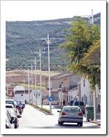 Imagen de la nueva iluminación central que ya luce la calle Cuerda de Almodóvar del Campo.