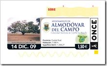 Diseño base que difundirá la ONCE sobre Almodóvar del Campo el 14 de diciembre.
