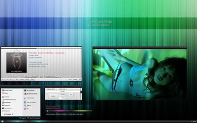 Auriel,windows style xp theme download,xp佈景主題vista,visual styles,xp佈景主題教學下載,桌面改造,桌面美化,破解xp佈景主題限制