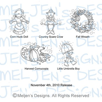 Meljens Designs November 4th Release Display