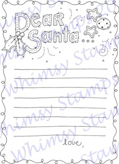 Meljens Designs Letter For Santa Coloring Page ONLINE