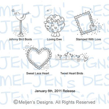 Meljens Designs January 6th Release Display