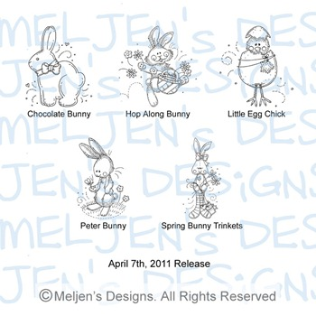 Meljens Designs April 7th Release Display
