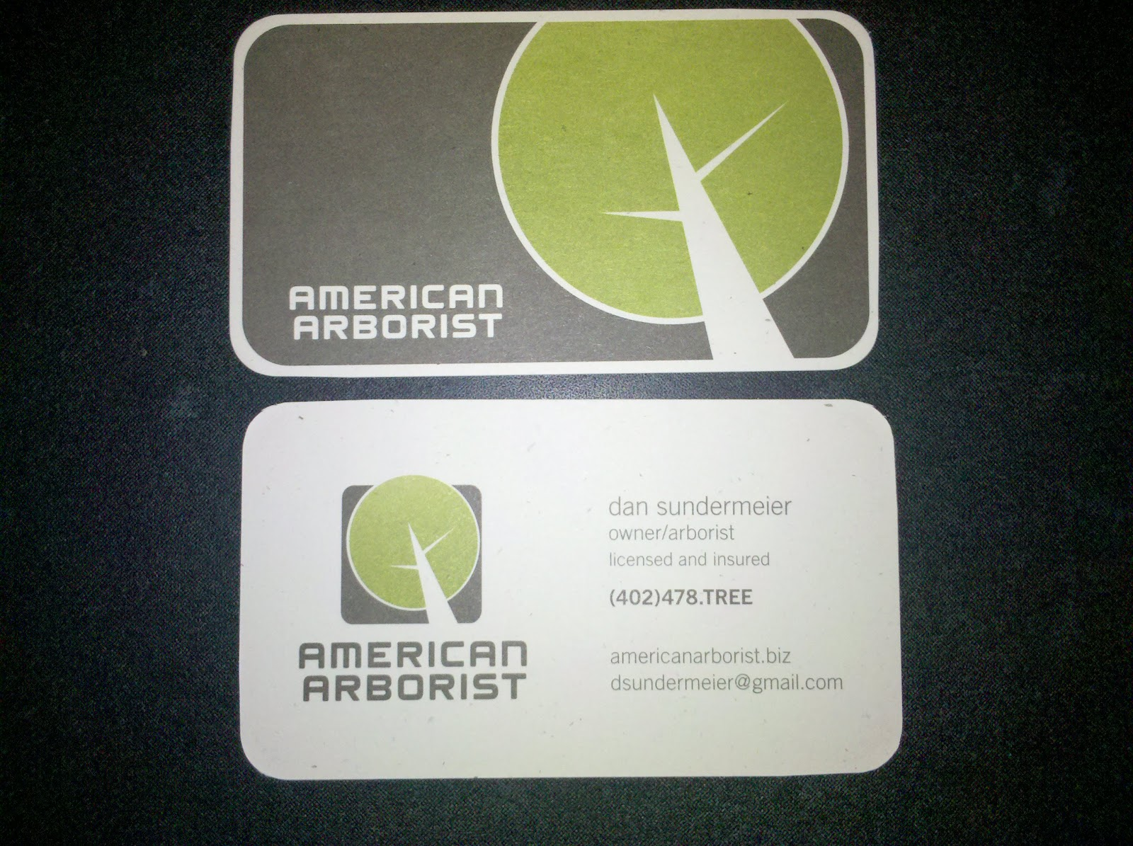 American Arborist: New Business Cards