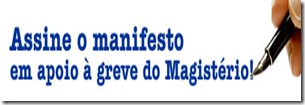 manifesto do professores