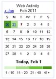 Google Web History Calender