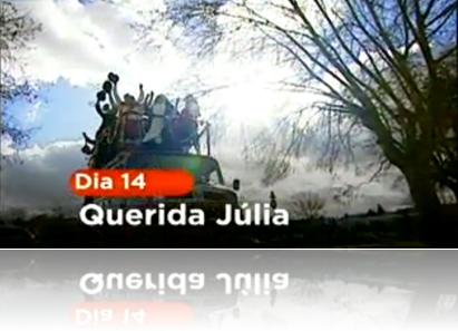 Foto do spot de promoção do Querida Júlia na SIC
