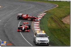 Fernando Alonso (ESP) Ferrari F10 recovers. Formula One World Championship, Rd 2, Australian Grand Prix, Race, Albert Park, Melbourne, Australia, Sunday 28 March 2010.